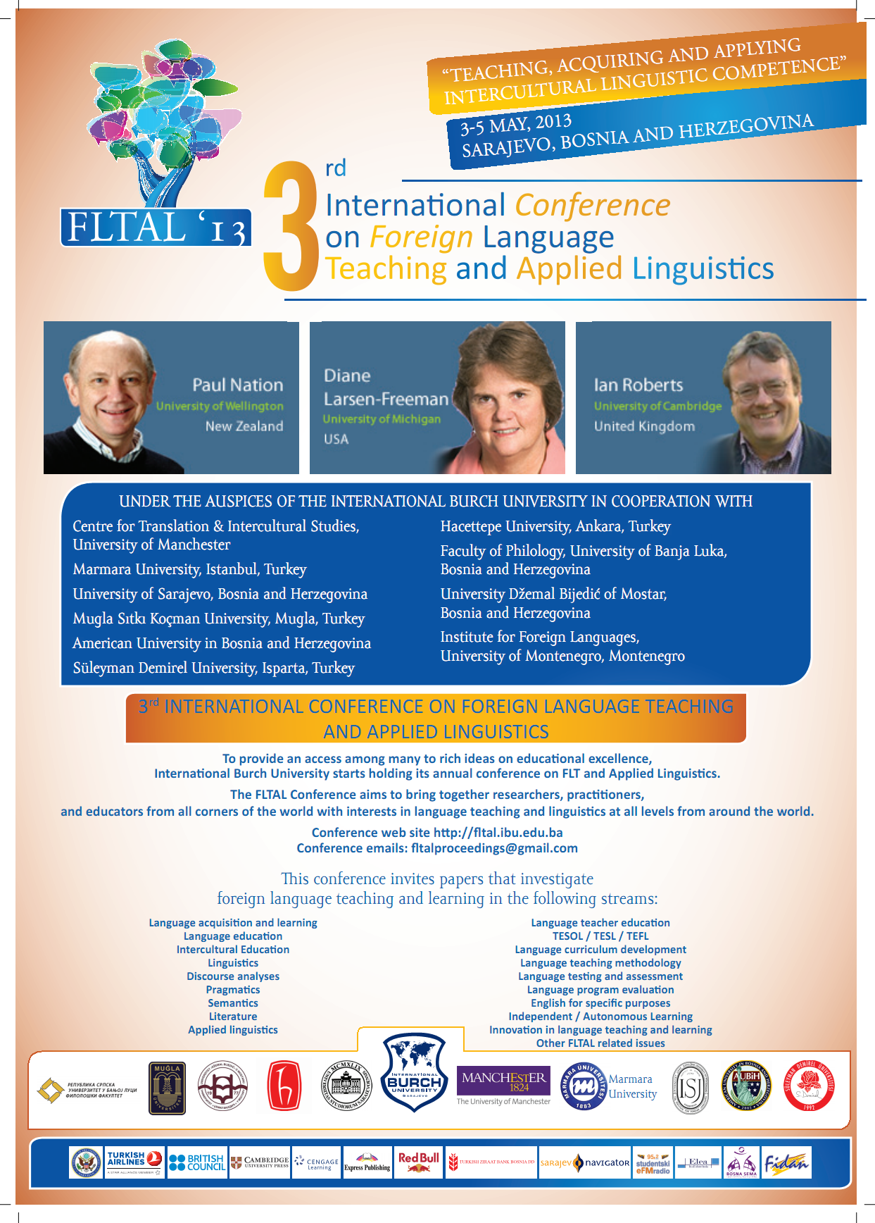 3rd International Conference on Foreign Language Teaching and Applied Linguistics