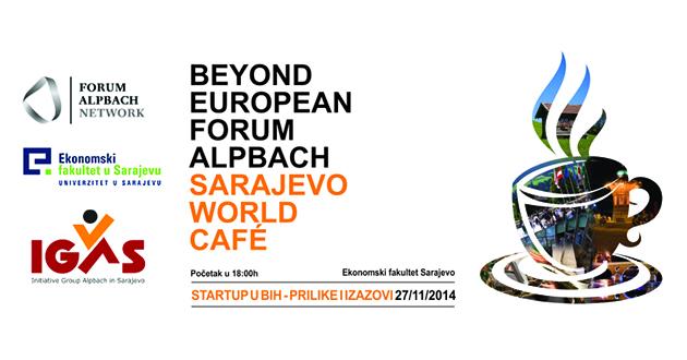 """Sedmi Sarajevo World Café na temu: """"Startup u BiH – prilike i izazovi"""""""