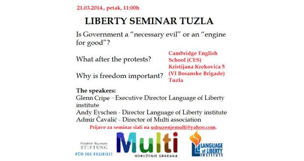 Poziv na Liberty seminar u Tuzli