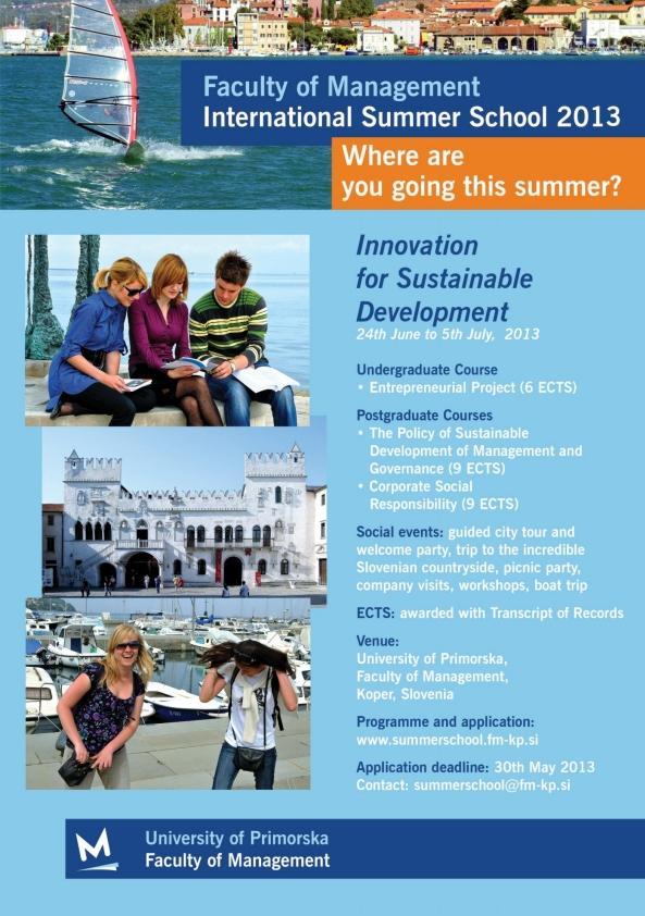 Međunarodna ljetna škola u Kopru, Slovenija