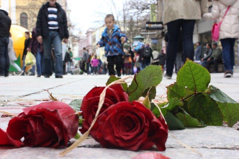 Mladi aktivisti i aktivistice YIHR-a obilježili Dan grada Sarajeva; Foto: Damir Hajdarbašić, Radiosarajevo.ba