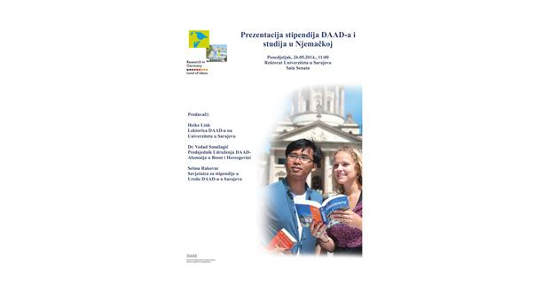 UNSA: Poziv na prezentaciju stipendija Njemačke službe za akademsku razmjenu DAAD
