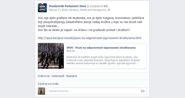"""Beharić: """"Sarajevo gori, a studenti spavaju zimski san"""""""