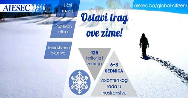 Global Citizen event u Centru za kulturu u Sarajevu: Ostavi trag ove zime!