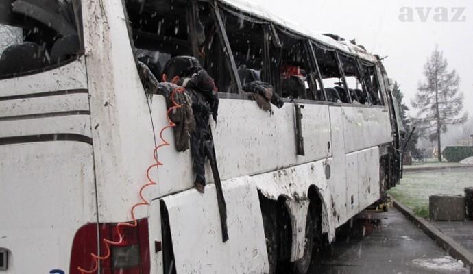 Autobus koji je prevozio studente nakon nesreće; Foto: Avaz