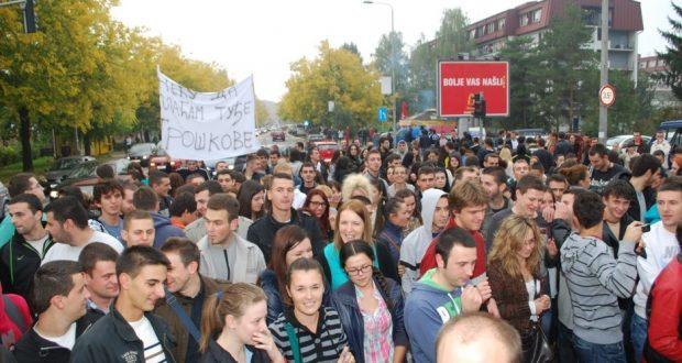 Studentski protesti u Banjaluci; Foto: Klix.ba