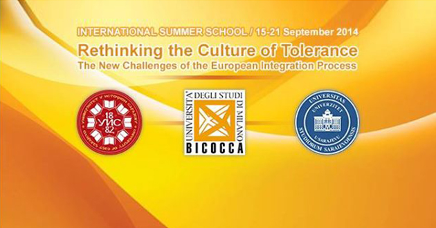 """Ljetna škola """"Rethinking the Culture of Tolerance – The New Challenges of the European Integration Process"""""""
