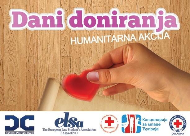 """ELSA Sarajevo organizuje humanitarnu akciju """"Dani doniranja"""""""