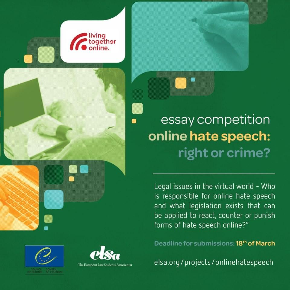 """Takmičenje u pisanju eseja na temu """"Govor mržnje na internetu"""""""