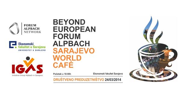 """IGAS: Poziv na Sarajevo World Cafè na temu """"Društveno preduzetništvo"""""""
