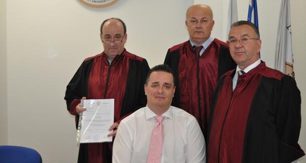 PFK: Konzul BiH u Frankfurtu uspješno odbranio magistarski rad na Pravnom fakultetu Univerziteta u Travniku
