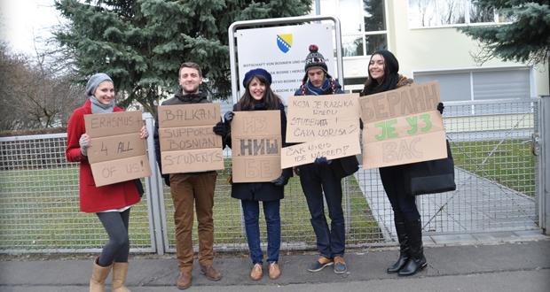 FOTO: Bh. studenti protestovali i u Berlinu