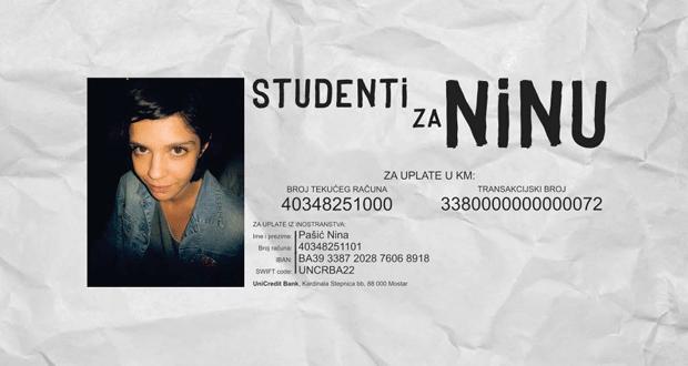 Studenti za Ninu – Tvoje je samo ono što daš!