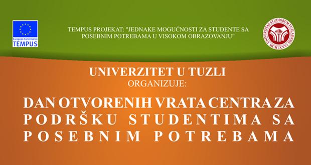 UNTZ i SUS BiH: Dani otvorenih vrata Centra za podršku studentima sa posebnim potrebama