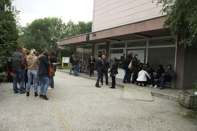 Protest studenata PMF-a; Foto: Feđa Krvavac/Klix.ba