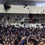 Promocije diplomaca i magistara Univerziteta u Tuzli koji su diplomirali odnosno magistrirali u akademskoj 2011/12. godini - Trenutak simboličnog bacanja kapa u zrak; Foto: UNTZ.ba