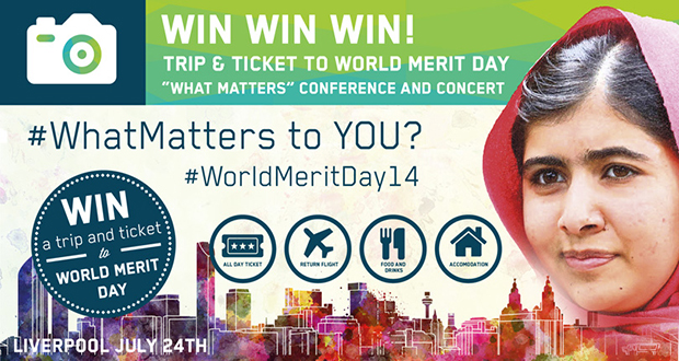Win a free trip and ticket to the World Merit Day 2014 [ENG]